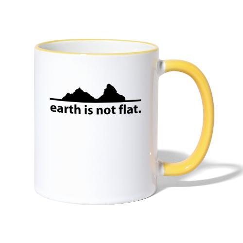 earth is not flat. - Tasse zweifarbig