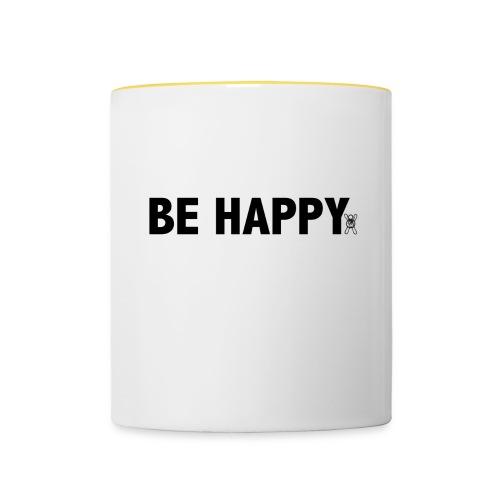 Be Happy - Mok tweekleurig