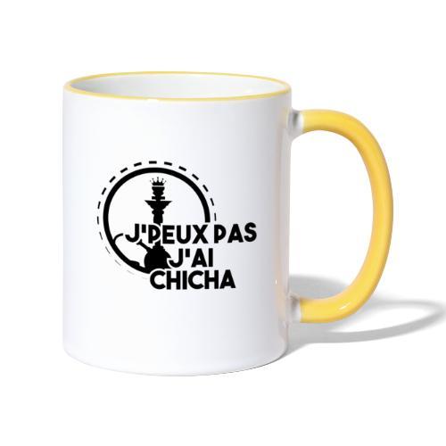 J'PEUX PAS J'AI CHICHA BLACK FULL - Mug contrasté