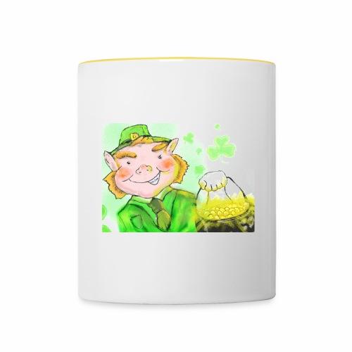 lenny the leprechaun - Contrasting Mug