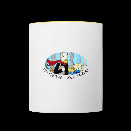 Fatherhood Badly Doodled - Contrasting Mug