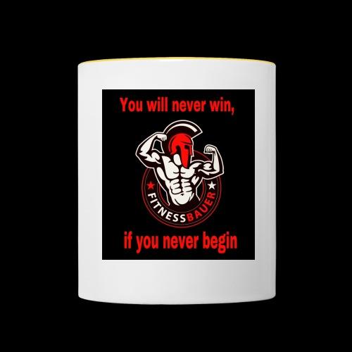 You will never win - Tasse zweifarbig