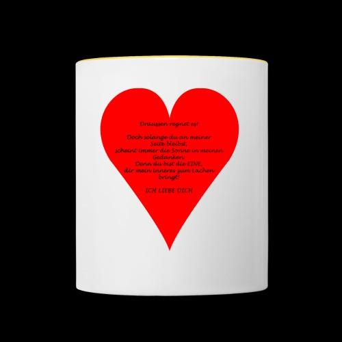 Liebesgedicht - Tasse zweifarbig