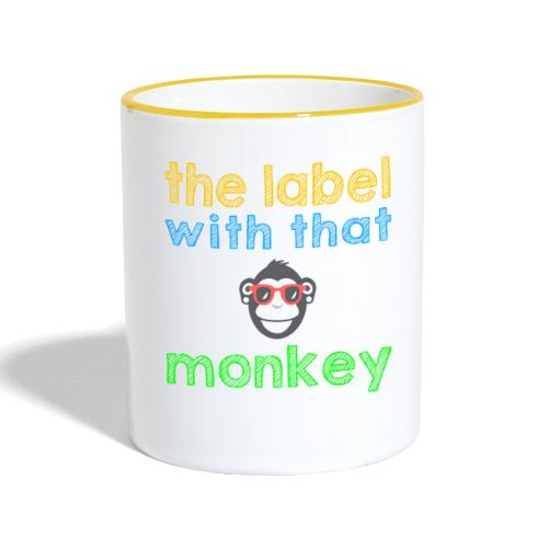 the label with that monkey - Tasse zweifarbig
