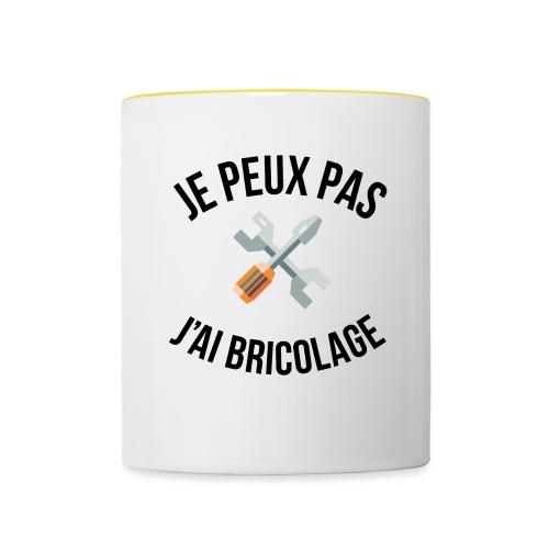 JE PEUX PAS - J'AI BRICOLAGE - Mug contrasté