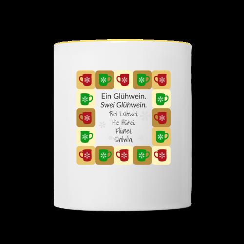 Ein Glühwein... - Tasse zweifarbig