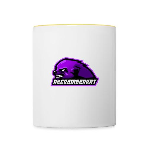 Necromeerkat logo + texte - Mug contrasté