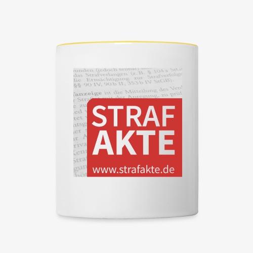 Strafakte.de Logo - Tasse zweifarbig