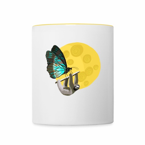 Fly me to the moon - Tasse zweifarbig