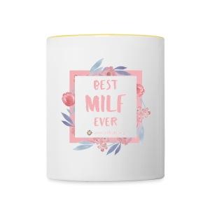 Best MILF ever - Milfcafé Shirt - Tasse zweifarbig