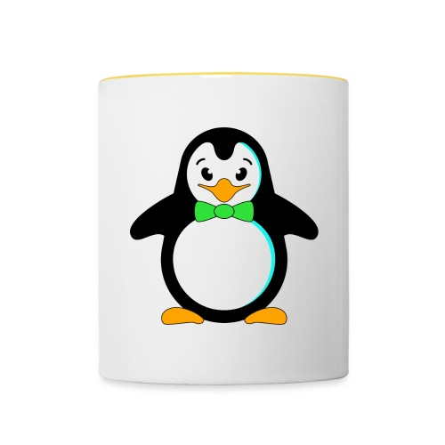 Pinguin Vögel Flossen Fliege Krawatte Frack Winter - Contrasting Mug