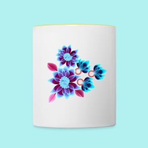 Hypnotic flowers - Mug contrasté