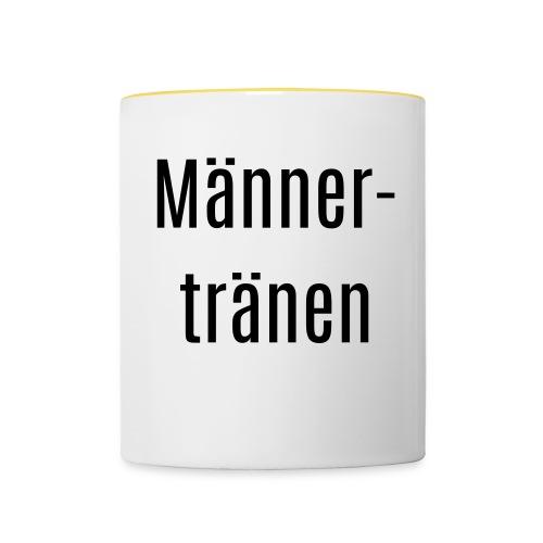 maennertraenen - Tasse zweifarbig