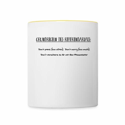 Grundregeln des Referendariats - Tasse zweifarbig