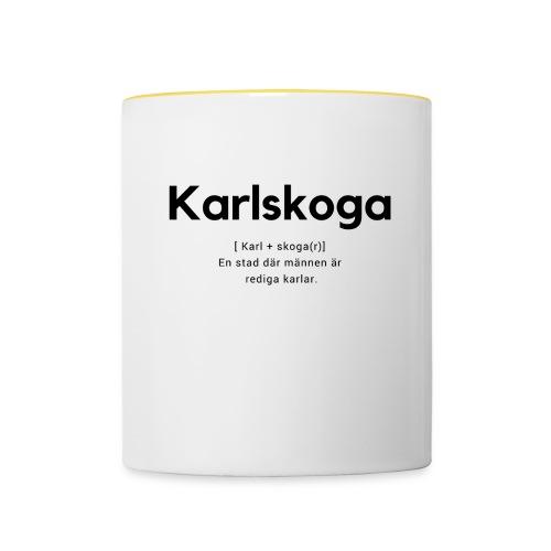 Karlskoga - Tvåfärgad mugg