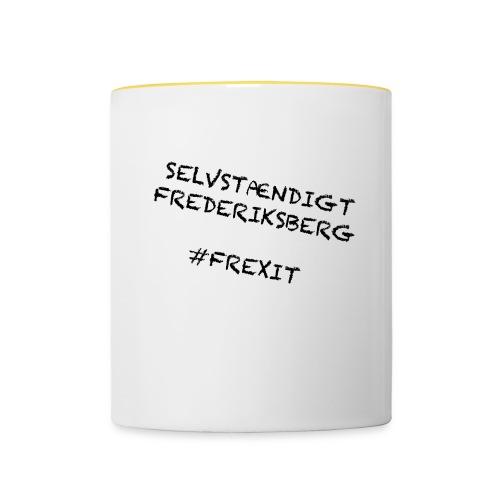 Selvstændigt Frederiksberg #FREXIT - Tofarvet krus