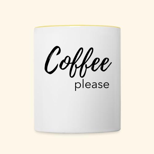 Coffee please - Statementshirt für Mamas - Tasse zweifarbig