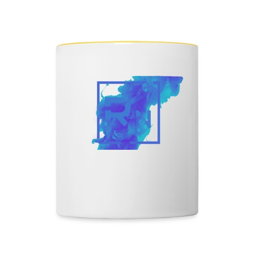 Rouge Nation Logo Smoke Liquid Ink - Contrasting Mug