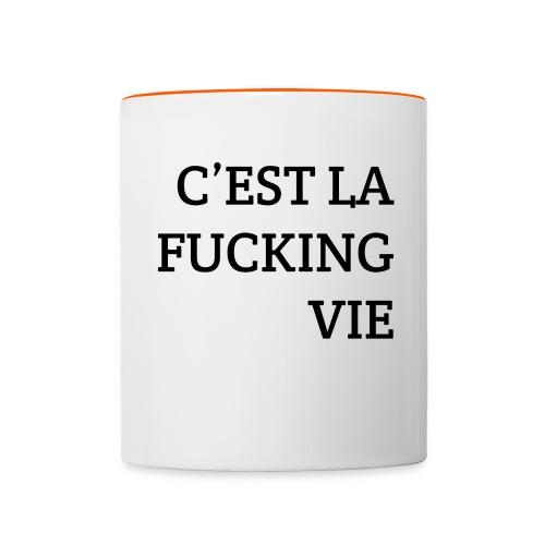C'est la FUCKING vie - Mok tweekleurig