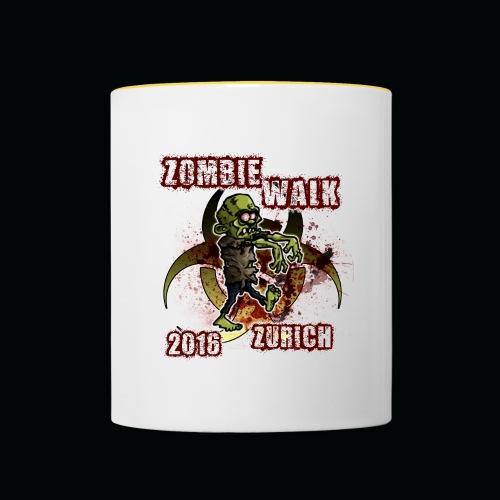 shirt zombie walk3 - Tasse zweifarbig