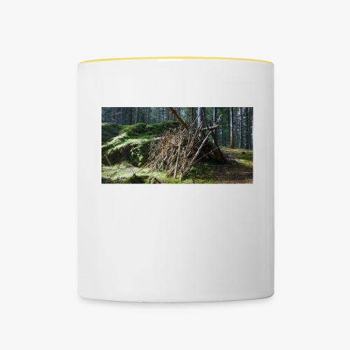 Wooden Hut - Contrasting Mug