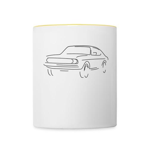 auto slight - Tasse zweifarbig