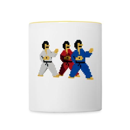8 bit trip ninjas 1 - Contrasting Mug