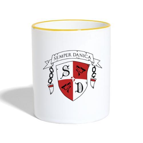SD logo - sorte lænker - Tofarvet krus