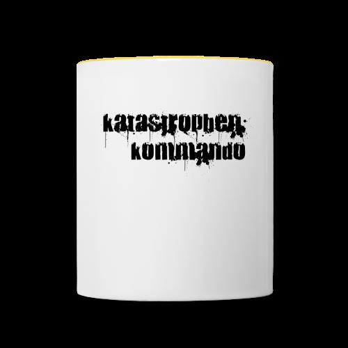 KK Logo schwarz - Tasse zweifarbig