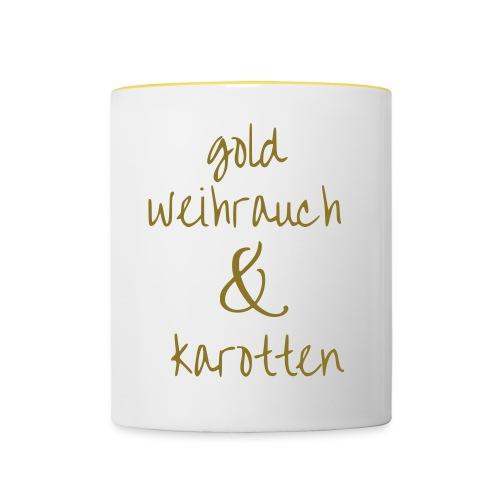 Gold - Tasse zweifarbig