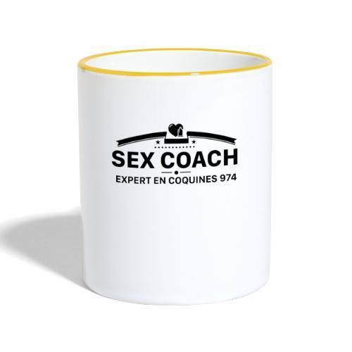 coach noir - Mug contrasté