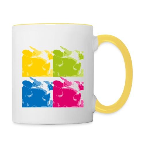 4 Kühe - Tasse zweifarbig