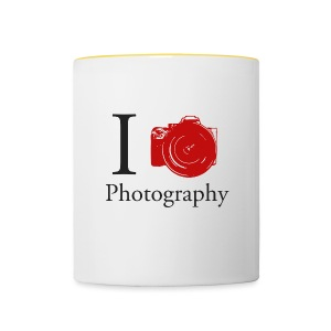 I Love Photography Collection - Tasse zweifarbig
