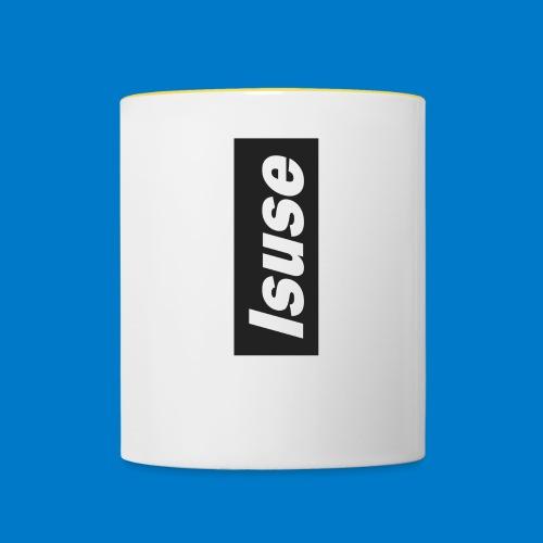 box logo black isuse - Taza en dos colores