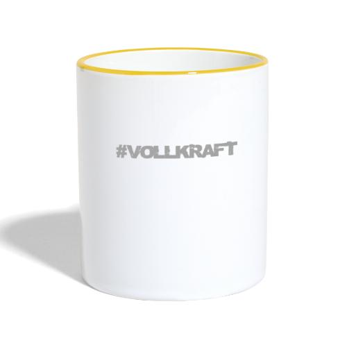Vollkraft Schriftzug grau - Tasse zweifarbig