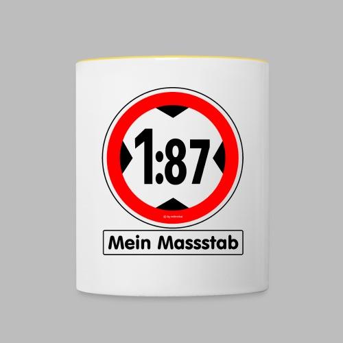 1:87 Mein Massstab - Tasse zweifarbig