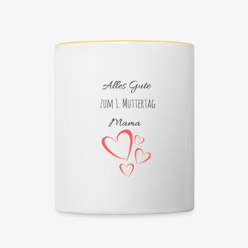 BABY erster Muttertag - by Muttertags Design - Tasse zweifarbig
