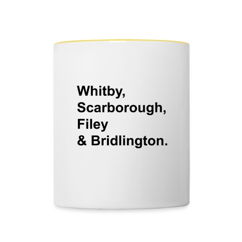 TYS Yorkshire Coast Towns - Contrasting Mug