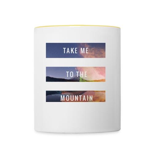 Take me to the mountain - Taza en dos colores