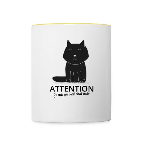 Chat noir - Mug contrasté