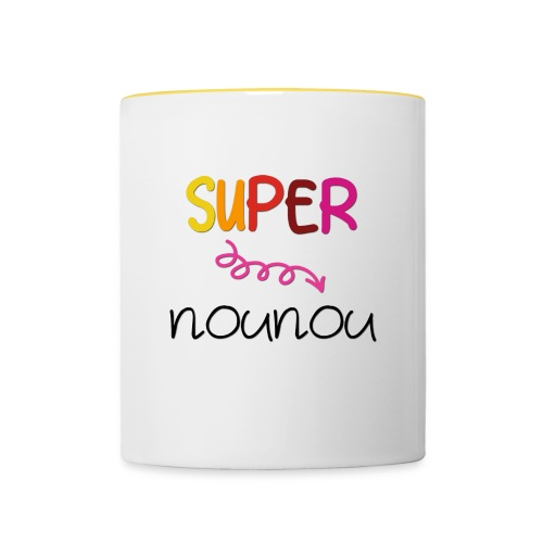 super nounou - Mug contrasté