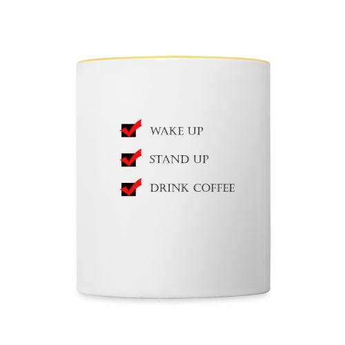 Kaffeetasse - Tasse zweifarbig