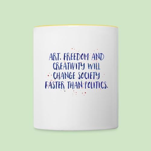 Art Quote - Tasse zweifarbig