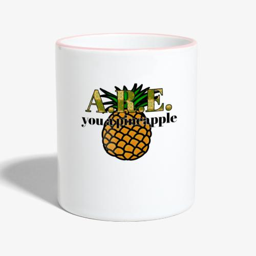 Are you a pineapple - Contrasting Mug