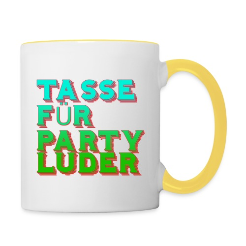 tassefurpartyluder - Tasse zweifarbig