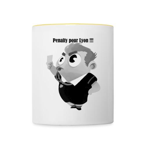Penalty pour Lyon ! - Mug contrasté