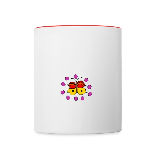 Butterfly colorful - Contrasting Mug