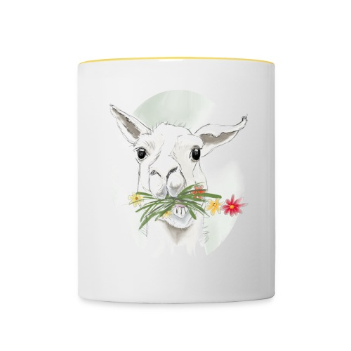 Lola Llama Nr.2 - Tasse zweifarbig