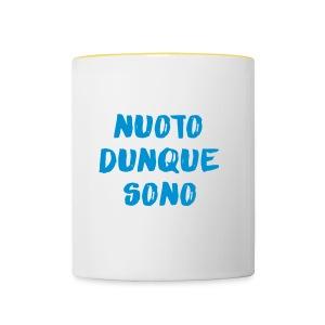NUOTO DUNQUE SONO - Tazze bicolor