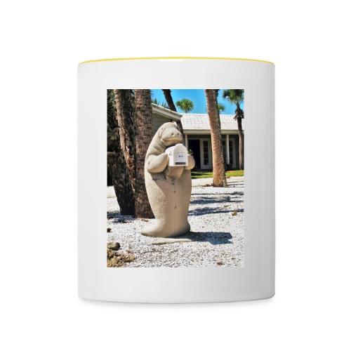 Manatee als Briefkasten - Tasse zweifarbig